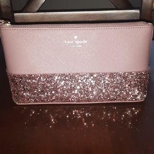 NWOT Kate Spade pink makeup/mini bag
